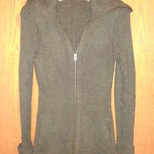 Athleta, Knitted, XXS, Gray Zip-Up Woman's Sweater